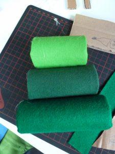 ....usando diverse tonalità di verde....