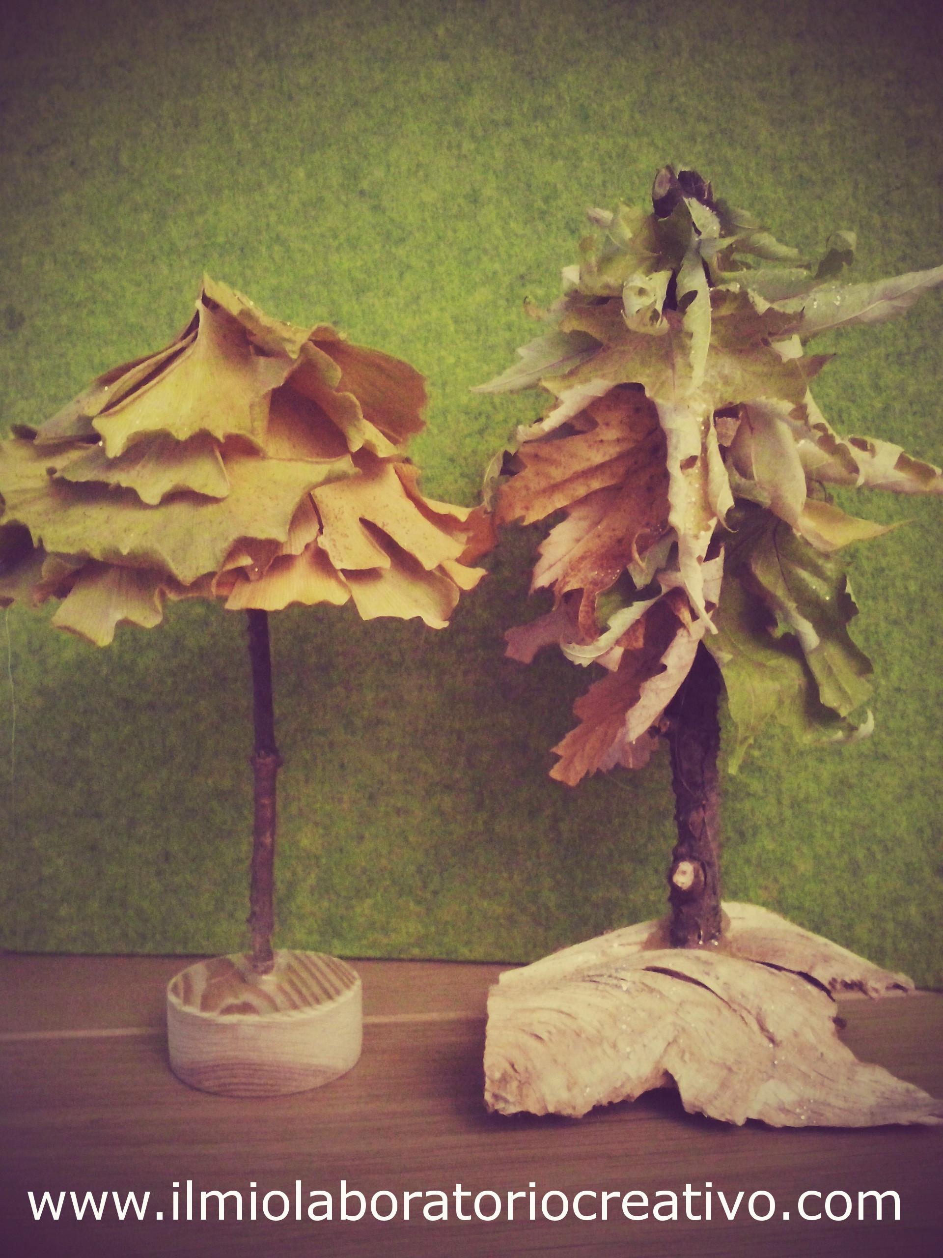 idee natalizie per bambini… con foglie secche.