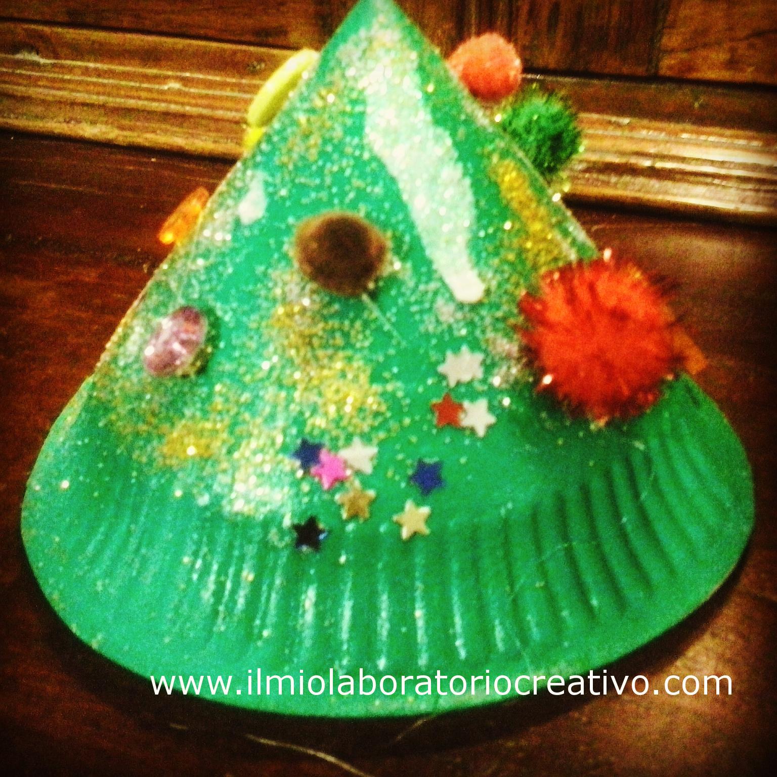 idee natalizie per bambini….con piatti di carta