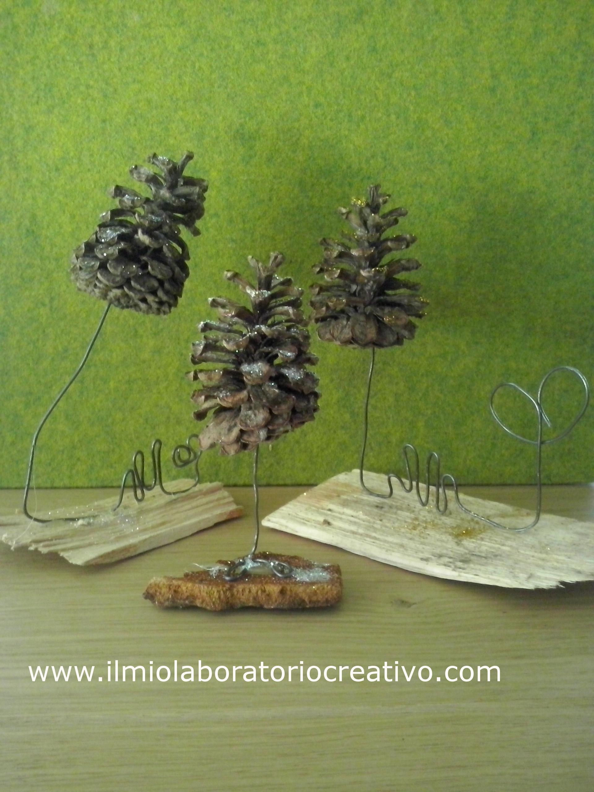 idee creative per natale…..con materiali naturali e fil di ferro